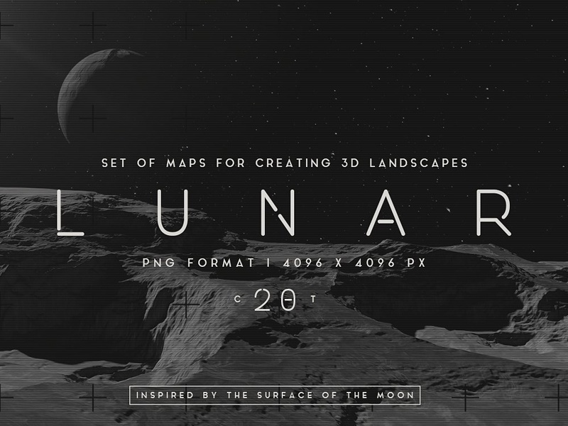 Lunar Landscapes maps by Graphic Assets on Dribbble