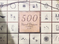 500 Hand Drawn Elements -Bundle