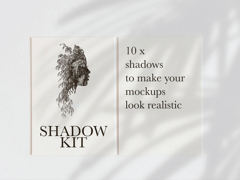 natural lighting shadow mockup kit by graphic assets dribbble