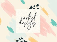 5 Painted Artist Designs - FREE Download