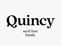 Quincy CF font family