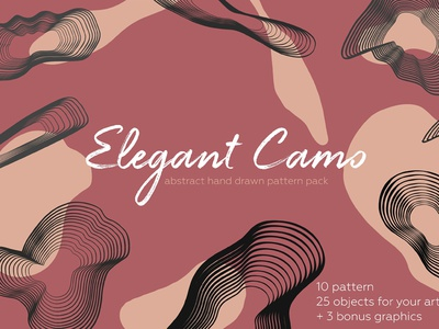 Elegant camo. Abstract pattern pack. - FREE Download