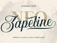 Neo Zapeline | 3 fonts Combination