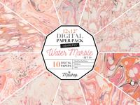 FREE Download - Seamless Digital Paper Water Marble