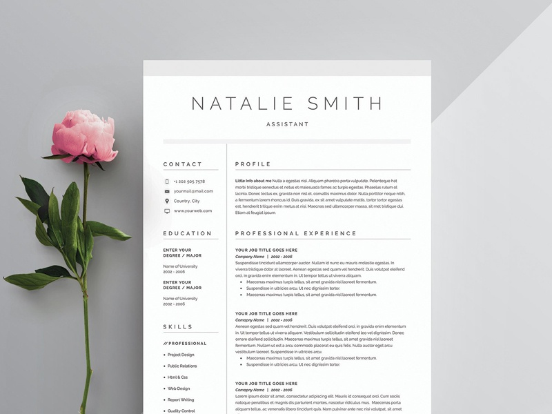 Word Resume & Cover Letter Template by Graphic Assets on ...