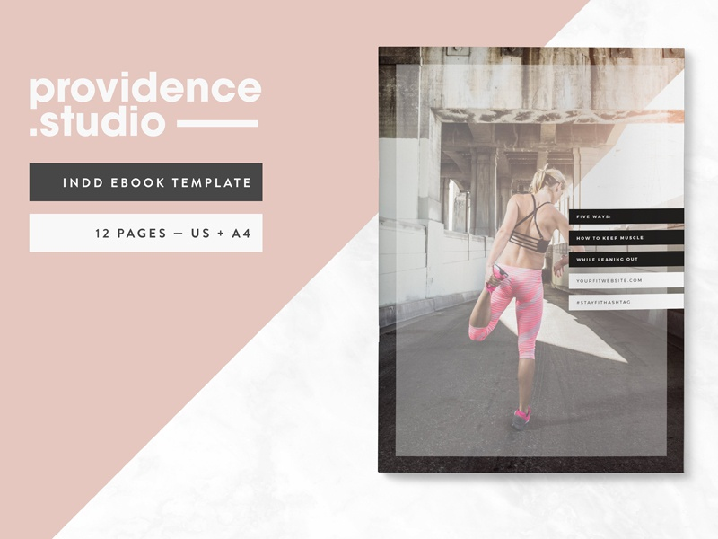 Fitness Modern Ebook Template By Graphic Assets On Dribbble