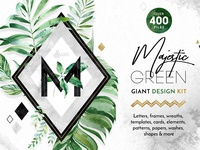 Majestic Green. Giant Design Kit.
