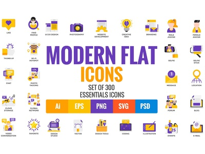 Big Collection of Modern icons technology icons ui icons technology flat icons modern flat icons modern icons vector web icons flat icon design