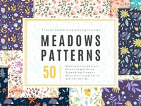 Meadow - 50 vector seamless patterns ( FREE DOWNLOAD )