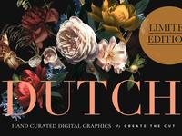 Vintage Floral Clip Art - Dutch