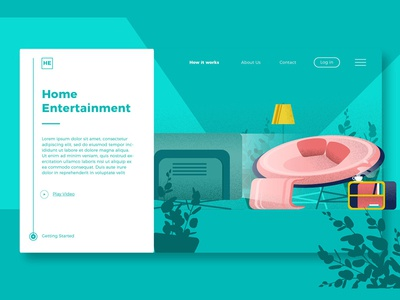 Home Entertainment Designs Themes Templates And Downloadable Graphic Elements On Dribbble