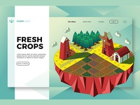 Fresh Crops - Banner & Landing Page