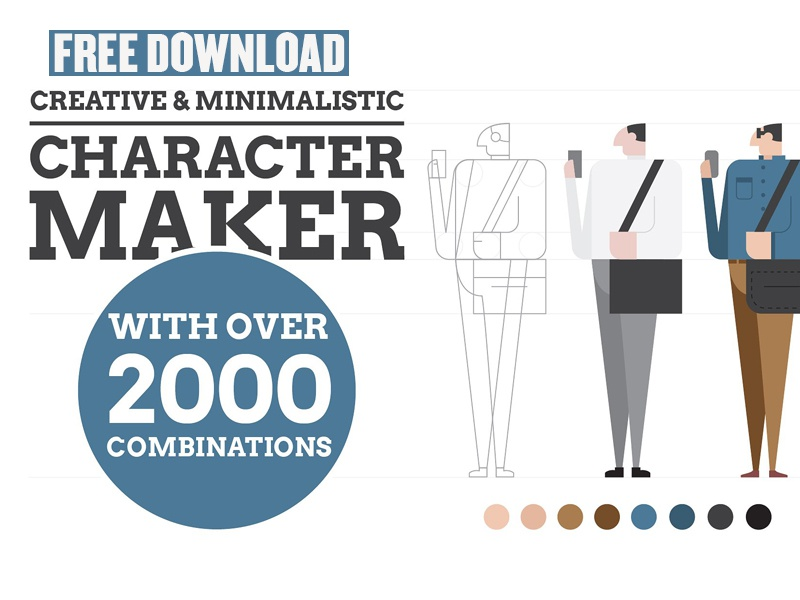 FREE DOWNLOAD - Character Maker 1 0 by Graphic Assets on Dribbble