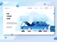 Car Workshop-Banner and Landing Page