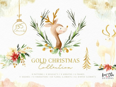 Gold Christmas Collection pattern cliparts background pattern texture background illustration christmas trees gold christmas gold gold leaves snowflakes winter collection watercolor animals christmas wreath christmas pattern holiday design christmas watercolor christmas collection christmas gold christmas collection