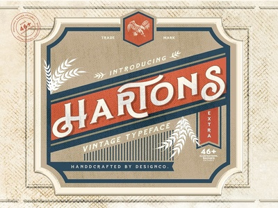 Hartons Vintage Typeface (Extras)