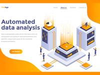 Modern flat design isometric graphic