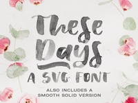 Sale! These Days | SVG font