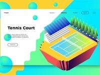 Tennis Court - Banner & Landing Page
