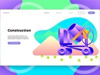 Construction Mixer - Landing Page