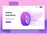 Autoparts Tire-Banner & Landing Page