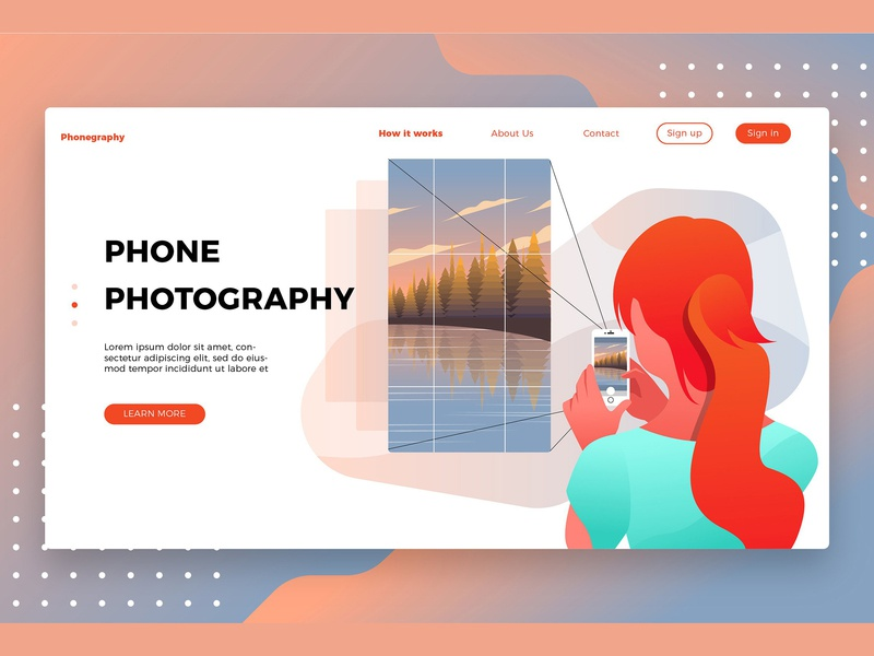 Photography Phone-Landing Page by Graphic Assets on Dribbble