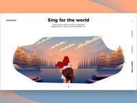 Guitar Music - Banner & Landing Page