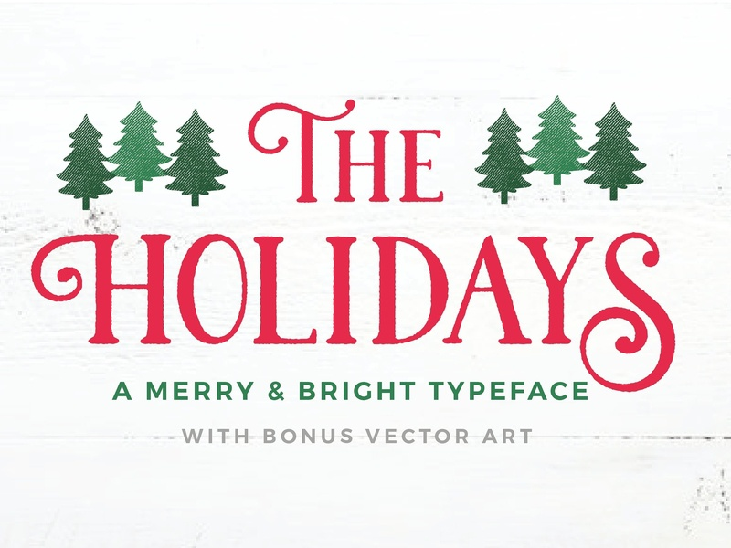 Christmas Font designs, themes