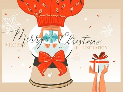 Merry Christmas illustrations