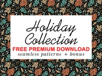 Free Premium Download - Holiday Patterns collection