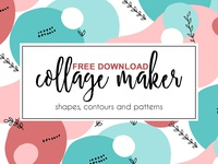 Free Premium Download - Shape and contour collage maker