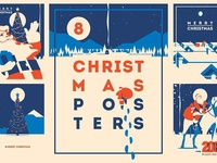 -50% 8 Christmas Posters & Cards