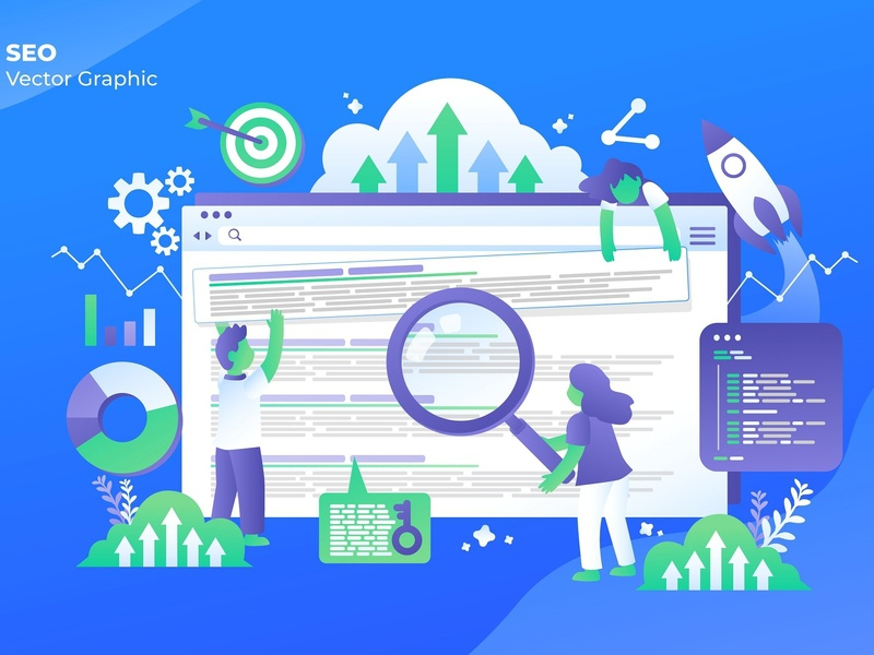 SEO - Vector Illustration seo marketing seo marketing business design flat design flat strategy concept graphic vector graphic technology landing icon process page isometric vector illustration banner