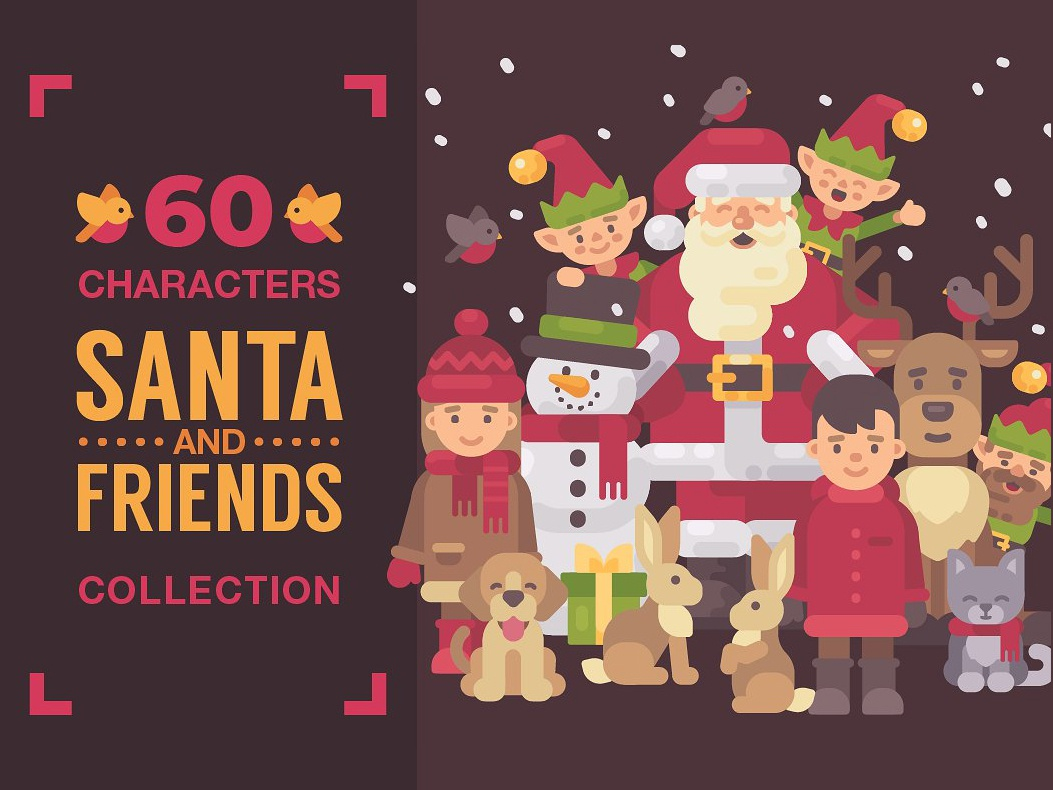 Santa & Friends Christmas characters by