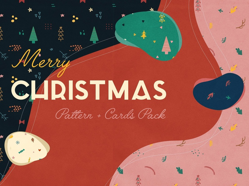 Holiday Patterns & Cards Design christmas draw art print vector illustration banner poster winter festive card design cards pack cards holiday cards pattern patterns holiday design holiday cards holiday patterns holiday