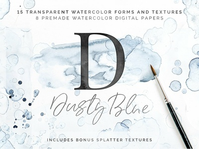 40% Off Dusty Blue Watercolor Kit