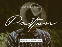 Patton Delicate Signature Typeface