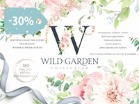 30% OFF Watercolor Botanical set