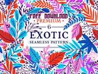 Free Premium Download - 6 Exotic patterns