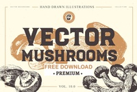 Free Premium Download - VECTOR MUSHROOMS BUNDLE