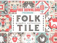 Free Premium Download - Folk Tile - Graphic Collection