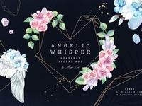Angelic Whisper. Watercolor Set