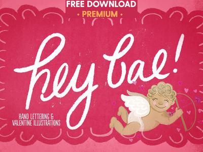 Free Premium Download - Hey Bae - Valentine Collection