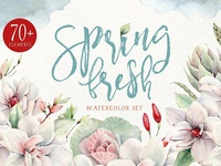 SPRING FRESH Watercolor set