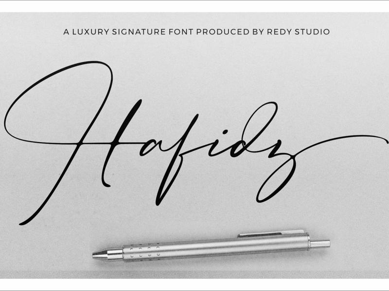 Hafidz | Luxury Signature Font logo font modern font logo modern calligraphy calligraphy script signature modern lettering typography typeface font luxury branding handwritten font handwriting handwritten luxury font signature font luxury luxury signature font