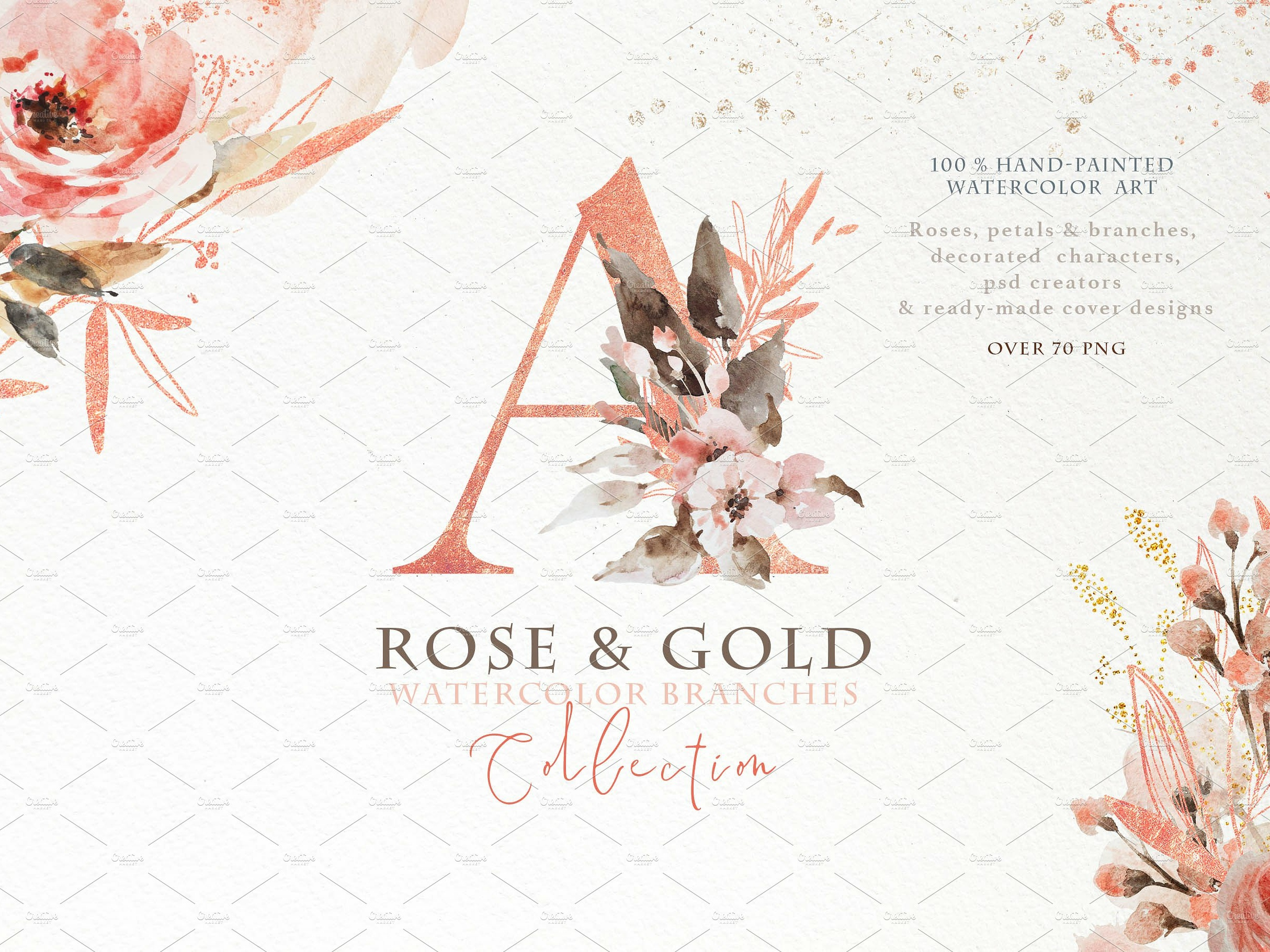 Rose Gold Arrangements By Graphic Assets On Dribbble