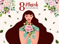 8 March Women's Day card collection