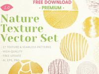 Free Premium Download - Nature Texture Vector Set