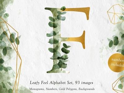 Leafy Feel Alphabet Set