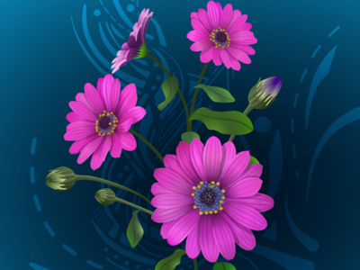 Serenity computer art vectors vector drawing vector art affinity designer for ipad made in affinity vector flowers flower